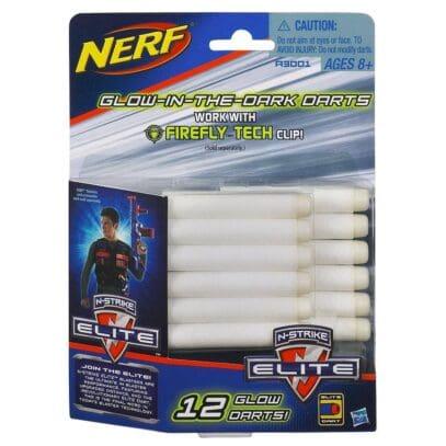 NERF N-Strike Elite Glow In The Dark Clip System Darts 12 Pk